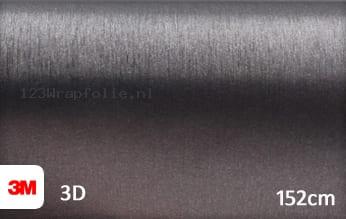 3M 1080 BR201 Brushed Steel wrapfolie
