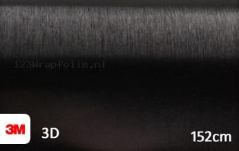 3M 1080 BR212 Brushed Black Metallic wrapfolie