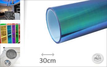 Flipflop blauw doorzichtig wrapfolie