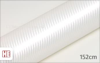 Hexis HX30CABPEB Carbon Pearl White Gloss wrapfolie
