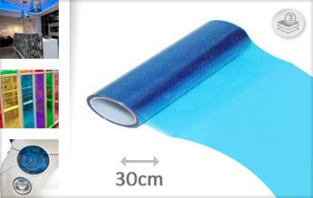 Blauw transparant wrapfolie
