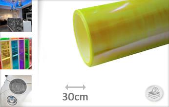 Flipflop geel transparant wrapfolie