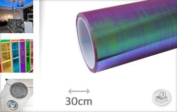 Flipflop paars transparant wrapfolie