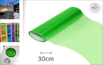 Groen transparant wrapfolie