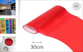 Rood transparant wrapfolie