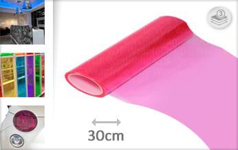 Roze transparant wrapfolie