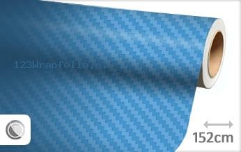 Babyblauw 3D carbon wrapfolie