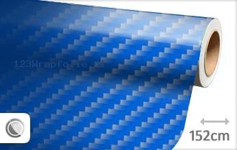 Blauw 2D carbon wrapfolie