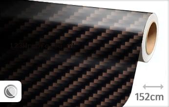 Bruin 2D carbon wrapfolie