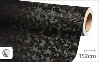 Camouflage digitaal wrapfolie