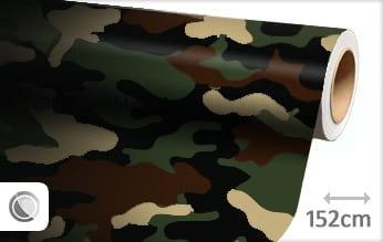 Camouflage leger wrapfolie