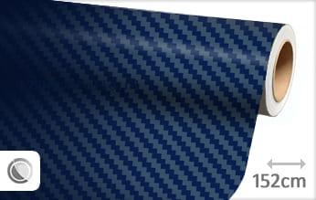 Donkerblauw 3D carbon wrapfolie