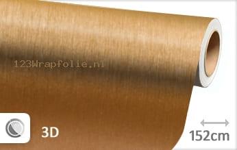 Geborsteld aluminium goud wrapfolie