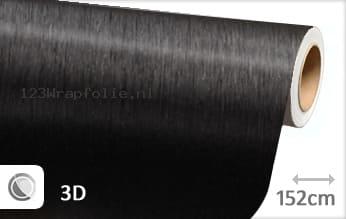 Geborsteld aluminium zwart wrapfolie