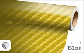 Geel 2D carbon wrapfolie