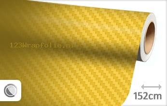 Geel 3D carbon wrapfolie