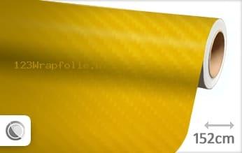 Geel 4D carbon wrapfolie