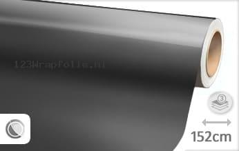 Glans metallic antraciet wrapfolie