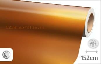 Glans metallic oranje wrapfolie