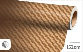 Goud 3D carbon wrapfolie