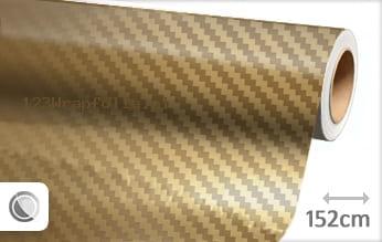 Goud chroom 3D carbon wrapfolie