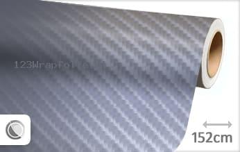 Grijs 4D carbon wrapfolie