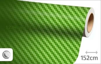 Groen 3D carbon wrapfolie