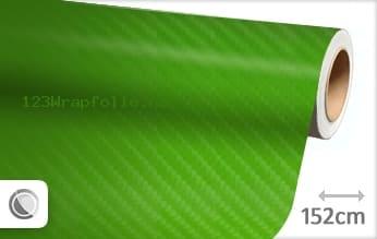 Groen 4D carbon wrapfolie