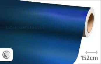 Mat chroom blauw wrapfolie