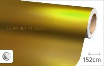 Mat chroom geel wrapfolie