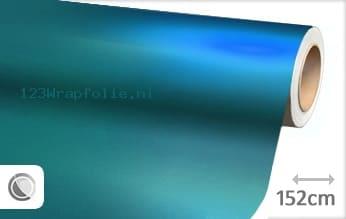 Mat chroom lichtblauw wrapfolie