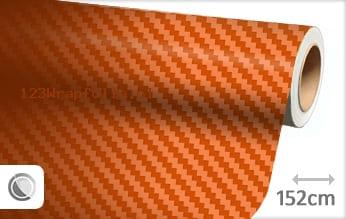 Oranje 3D carbon wrapfolie
