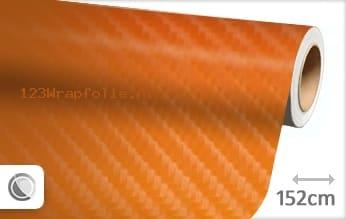 Oranje 4D carbon wrapfolie
