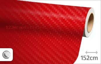 Rood 4D carbon wrapfolie