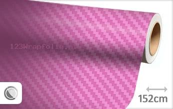 Roze 3D carbon wrapfolie