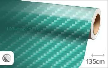 Turquoise 2D carbon wrapfolie