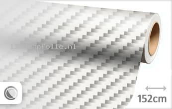 Wit 2D carbon wrapfolie