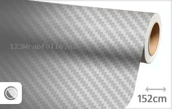 Zilver 3D carbon wrapfolie