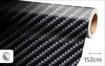 Zwart 2D carbon wrapfolie