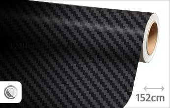 Zwart 3D carbon wrapfolie