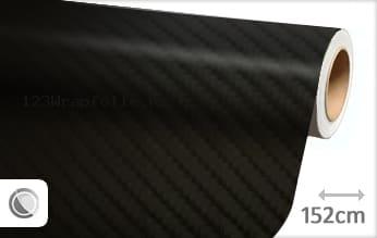 Zwart 4D carbon wrapfolie